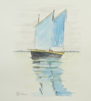 """""""Reflets bleus"""" 2016 - 23x30 cm"""