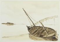 """Barque de pêcheurs"" - Maldives 1998 - 19x13 cm"