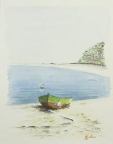 """""""Petite barque sous le soleil"""" - 2016 - 23x29 cm"""