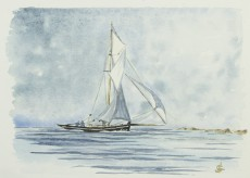 """""""Vent arrière"""" 1999 - 19x13 cm"""