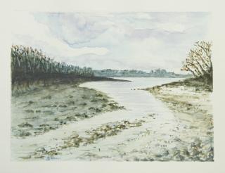 """""""Des terres à la mer"""" - Aber Benoit 2016 - 28x21 cm"""