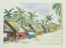 """""""Maisons de pêcheurs"""" - Punta cana 2006 - 25x18 cm"""