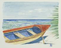 """""""Canot multicolore"""" - Ile Maurice 2009 - 25x18 cm"""