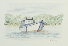 """Bequia, Friendship Bay"" - Grenadines 1997 - 25x18 cm"