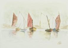 """""""Régate dans la pétole"""" 1999 - 19x13 cm"""