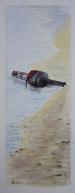 """""""Echouée sur le sable..."""" - Bretagne - 2017 - 50x20cm"""
