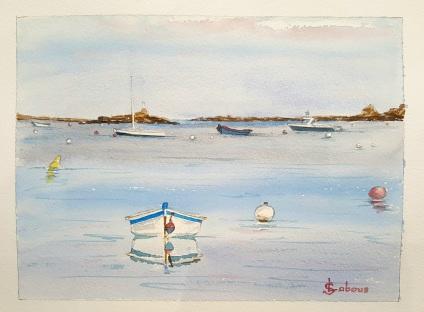 """""""Reflets d'été"""", Trémazan. 2018. 30 x 23 cm"""