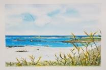 """La plage de Corn Ar Gazel"", Saint-Pabu, 2018. 23x28cm"