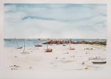 """""""Pluie à l'horizon"""", Portsall, 2019. 35x25cm"""