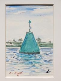 "Balise ""Ar Gazel"", Saint-Pabu, 2019. 18x24cm"