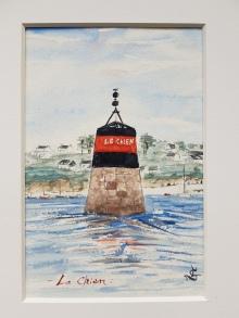 """Balise """"Le Chien"""", Saint-Pabu, 2019. 18x24 cm"""