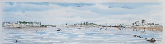 Le port d Argenton, maree haute